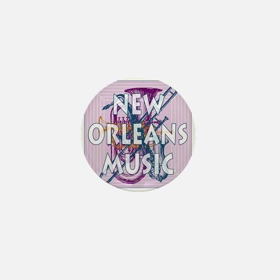 Purple New Orleans Music #2 Mini Button