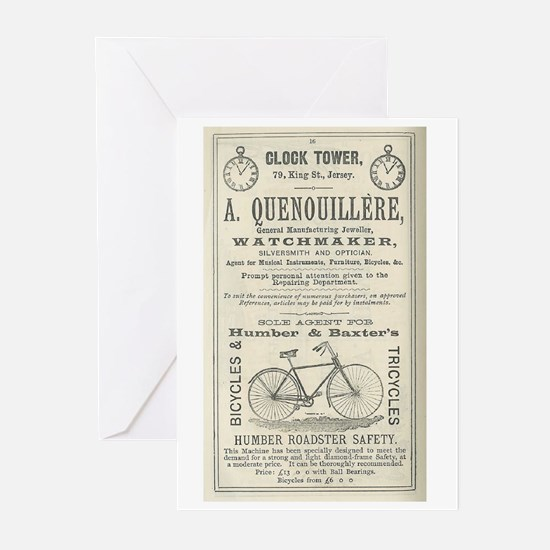 5x7 1892 Bike ad Greeting Cards (Pk of 20)