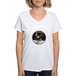 Apollo 11 Mission Patch Women's V-Neck T-Shirt
