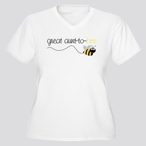 great aunt to be shirt Women's Plus Size V-Neck T-