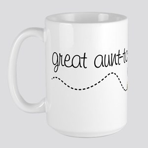 great aunt to be shirt Large Mug