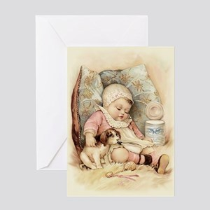 Sleepy Baby Greeting Card
