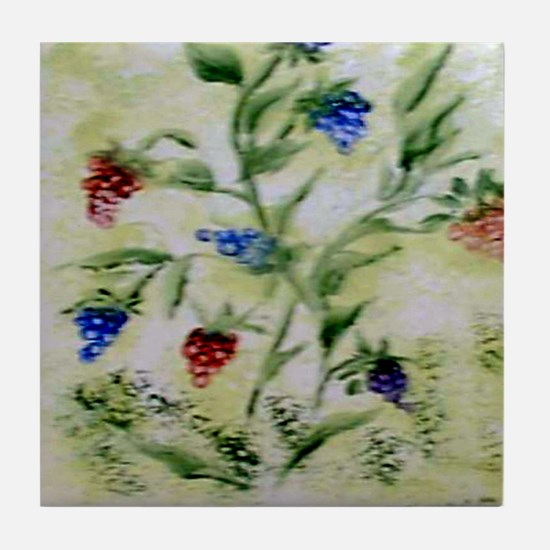 """Wild Berries"" Tile Coaster"