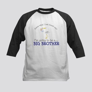 big brother to be stork shirt Kids Baseball Jersey