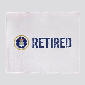 USAF: Retired Throw Blanket