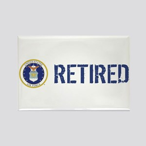 USAF: Retired Rectangle Magnet