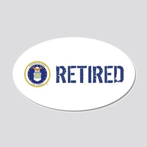 USAF: Retired 20x12 Oval Wall Decal
