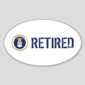 USAF: Retired Sticker (Oval)