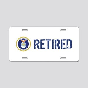 USAF: Retired Aluminum License Plate