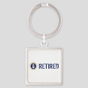 USAF: Retired Square Keychain