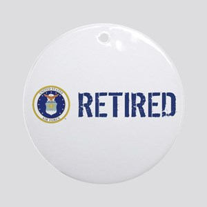 USAF: Retired Round Ornament