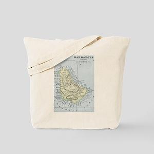 Vintage Map of Barbados (1901) Tote Bag