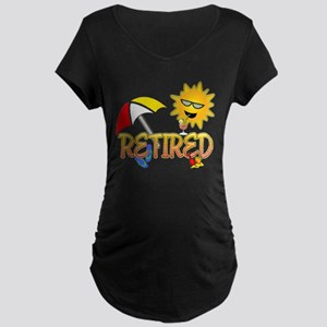 Retired Maternity Dark T-Shirt