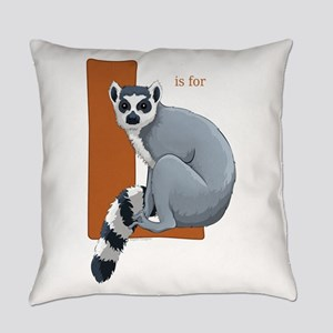 L is for Lemur Everyday Pillow