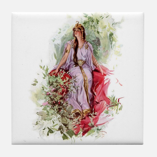 Lady of The Forest Tile Coaster