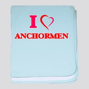 I Love Anchormen baby blanket