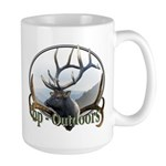 Bull Elk Wildlife Large Mug