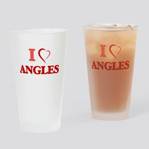 I Love Angles Drinking Glass