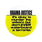 """Obama Justice 3.5"""" Button (100 pack)"""