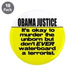 """Obama Justice 3.5"""" Button (10 pack)"""