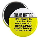 """Obama Justice 2.25"""" Magnet (100 pack)"""