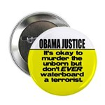 """Obama Justice 2.25"""" Button (100 pack)"""