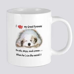 Great Pyrenees Mood Stainless Steel Travel Mugs