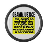 Obama Justice Large Wall Clock