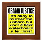Obama Justice Framed Tile