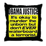 Obama Justice Throw Pillow