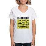 Obama Justice Women's V-Neck T-Shirt