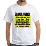 Obama Justice White T-Shirt