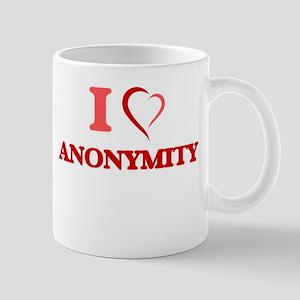 I Love Anonymity Mugs