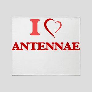I Love Antennae Throw Blanket