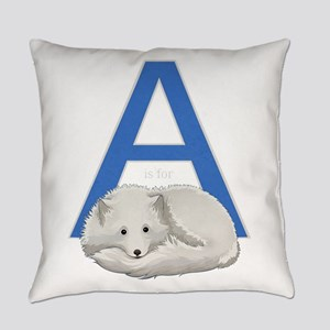 A is for Arctic Fox Everyday Pillow