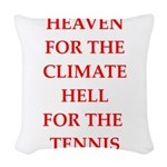 Funny sports and gaming joke Woven Throw Pillow