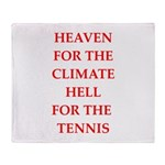 Funny sports and gaming joke Throw Blanket