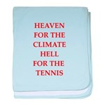 Funny sports and gaming joke baby blanket