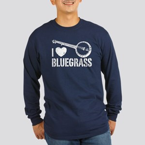I Love Bluegrass Long Sleeve Dark T-Shirt