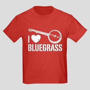 I Love Bluegrass Kids Dark T-Shirt