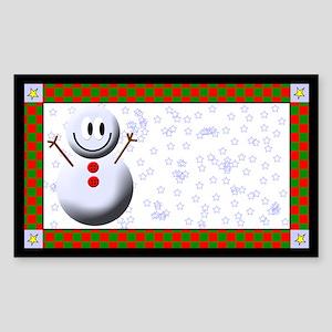 Snowmen Rectangle Sticker