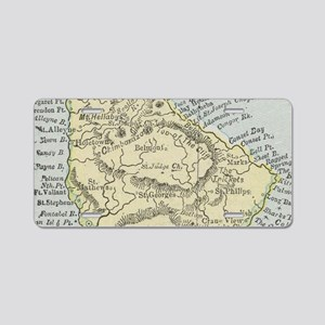 Vintage Map of Barbados (19 Aluminum License Plate