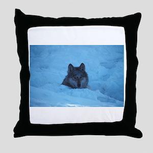 """Wolf"" Throw Pillow"