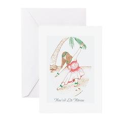 Hawaiian Hula Girl Birthday Cards (Pk of 10)