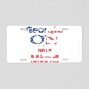Georgia on My Mind Aluminum License Plate