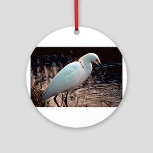 """Snowy Egret"" Ornament (Round)"