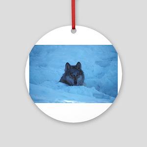"""""""Wolf"""" Ornament (Round)"""