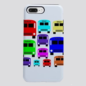 Rainbow School Bus iPhone 7 Plus Tough Case