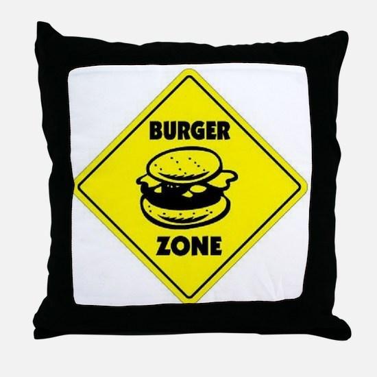 Burger Zone Throw Pillow