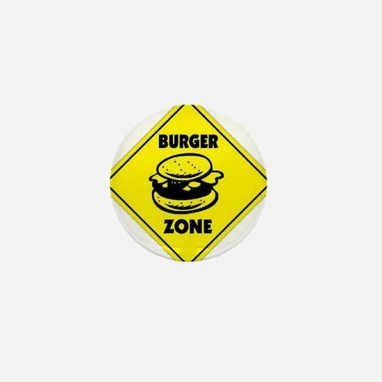 Burger Zone Mini Button